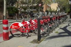 Строка велосипедов в Барселоне Стоковое Изображение