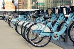 Строка велосипедов Стоковое фото RF