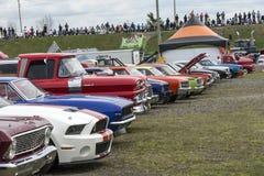 Строка выставки автомобиля Стоковая Фотография