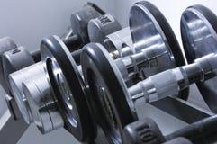Строка гантелей Стоковое фото RF