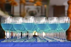 Строка голубого коктеиля curacao Стоковое Изображение