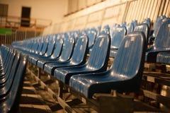 Строка голубых мест театра Стоковые Изображения RF