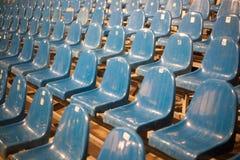 Строка голубых мест театра Стоковая Фотография RF