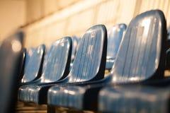 Строка голубых мест театра Стоковое фото RF