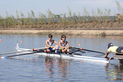 СТРОКА: Европейские чемпионаты rowing Стоковые Изображения RF