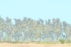 Строка деревьев - зеленая окружающая среда - предпосылка иллюстрации Стоковые Изображения