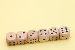 Строка деревянной кости Стоковое Фото
