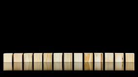 Строка 13 деревянных блоков Стоковая Фотография RF
