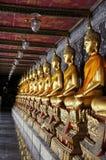 Строка золотой Будда Wat Pho Стоковые Изображения