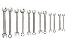 Строка изолированного ключа инструмента металла серебра механика для ремонта Стоковые Фото