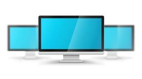 Строка дисплеев компьютера иллюстрация вектора