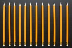 Строка идентичных карандашей Стоковая Фотография RF
