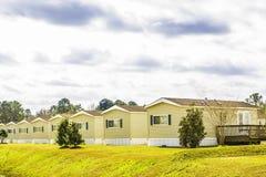 Строка идентичных передвижных домов Стоковое Фото