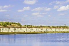 Строка идентичных передвижных домов Стоковая Фотография