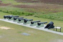 Строка карамболей гражданской войны на форте Moultrie стоковое фото