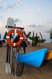 Строка каяка на пляже Стоковое Фото