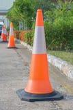 Строка конуса движения в дороге Стоковые Фото