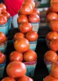 Строка корзин томата Стоковое Изображение RF