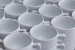 Строка кофейных чашек Стоковое Изображение