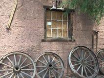 Строка колеса телеги Стоковое Изображение