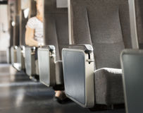 Строка мест в поезде Стоковые Фото