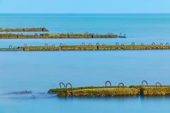 Строка молей в море Стоковое фото RF