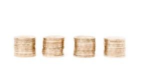 Строка монеток Стоковое фото RF