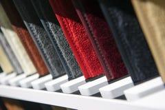 Строка образцов ткани стоковое фото rf