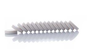 Строка пилюлек витамина Стоковое Изображение RF