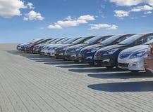 Строка серии запаса автомобилей для продажи стоковая фотография rf