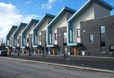 Строка современных домов Стоковая Фотография RF