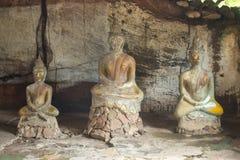 Строка старых каменных статуй Будды Стоковые Фотографии RF
