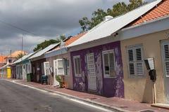 Строка старых домов холопки Стоковое фото RF