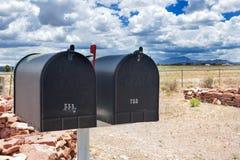 Строка старых Postboxes в положении Аризоны, США Стоковые Изображения