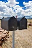 Строка старых Postboxes в положении Аризоны, США Стоковое Изображение