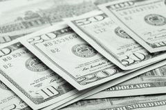 Строка 100 счетов доллара США Стоковое фото RF