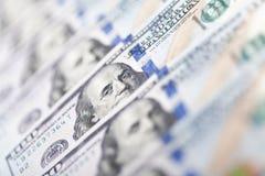 Строка 100 счетов доллара США Стоковое Изображение RF