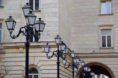 Строка фонарных столбов Стоковое Изображение