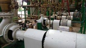 Строка электрических двигателей для индустрии водяных помп Стоковая Фотография