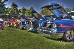 Строка Chevys 1957 HDR Стоковые Изображения RF