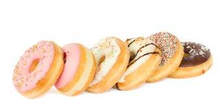 Строка donuts Стоковые Фотографии RF