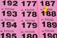 Строки билетов лотереи Стоковые Изображения