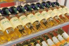 Строки бутылок вина Стоковые Фото