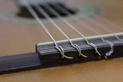 Строки гитары на стойке Стоковые Фото