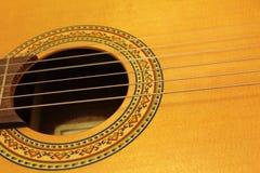 Строки гитары на стойке Стоковое Изображение RF