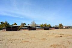 Строки деревянного stabling shedrow на двойном ранчо рек Стоковая Фотография RF