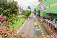 Строки зданий наследия в Чайна-тауне и здания во фронте комплекс парка людей, коммерчески и жилое свойство стоковое фото rf