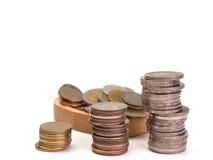 Строки монеток показывают увеличение Стоковые Фотографии RF