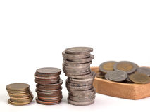 Строки монеток показывают увеличение Стоковое фото RF