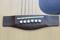 Строки на гитаре Стоковое фото RF